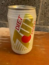 Diet 7 up Gold Soda Can Empty Rare (Bottom Opened) (Make an offer)