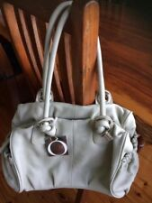 Oroton royal tote ivory leather handbag