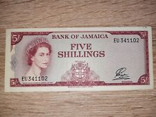 Jamaica 5 Shillings 1960 (1964) Pick 51Aa Queen Elizabeth II. P.51A a XF/EF+