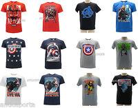 T-shirt Originali Marvel Avengers Originale Maglia Iron Man Capitan America