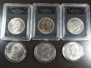 1972 - 1978 $1 Eisenhower Dollars Lot of 6 - 1972, 1973 D, 1976 D, 1978, 1978 D