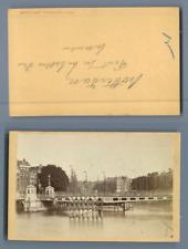 Pays bas, Rotterdam, vue sur le port Vintage albumen CDV, carte de visite CDV,