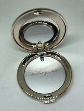 NEW JANE IREDALE THE SKIN CARE MAKEUP ROSE GOLD SLIM REFILLABLE MIRRORED COMPACT