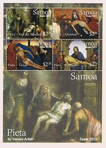 Samoa 2015 Easter Postage Stamp Souvenir Sheet Issue
