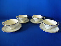 Gold China Baronet Pattern Made In Japan Cups & Saucers Set of 4    No. 181