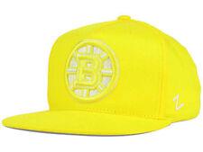 Boston Bruins NHL Popsicle Team Snapback Flat Bill Brim Yellow Gold Hat Cap Lid