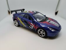 "New 5"" Kinsmart Toyota Celica Racing Decal Diecast Model Toy Car 1:34 Blue"