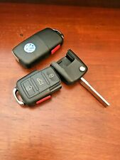 2 New 2006-2009 VW Rabbit Uncut Flip Key Switchblade Remote Keyless Factory Fob Remote Entry System Kits Dash Cams, Alarms & Security