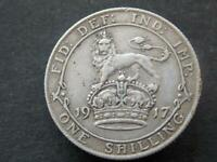 1917 Solid Sterling Silver Vintage  WW1 Shilling United States Vimy Ridge C059