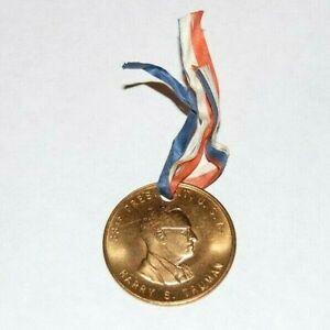1948 HARRY TRUMAN MEDAL token campaign ribbon pinback pin button political badge
