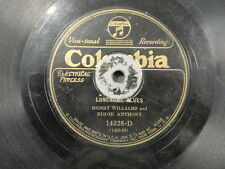 78 Lonesome Blues Henry Williams Eddie Anthony Columbia 14328 Georgia Crawl V-