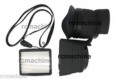 """PROCAM 3X 3"""" LCD Viewfinder for 3"""" size LCD Nikon D7000 D90 Canon 5D Mark II"""