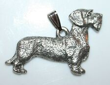 DACHSHUND Wirehaired Dog Harris Fine Pewter Pendant USA Made