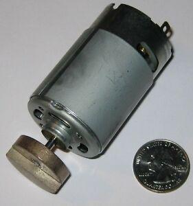 Mabuchi 555 Massager Motor - 12V DC - 4000 RPM - Heavy Vibrator Brass Weight