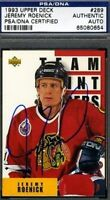 JEREMY ROENICK SIGNED PSA/DNA  1991 UPPER DECK HOCKEY CERTIFIED AUTOGRAPH