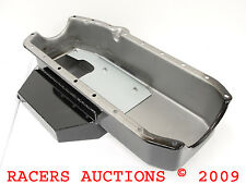 55-79 SBC Chevy Champ Style Oil Pan Black 350 383 400 Circle Track Race Modified