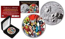 2018 1 oz Pure Silver Tuvalu Marvel Comics THOR Coin S/N of 218 - Avengers Thor