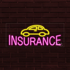 Brand New Insurance Withcar Logo 32x13x1 Inch Led Flex Indoor Sign 30208