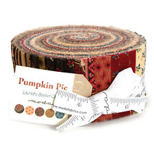 "Moda FABRIC Jelly Roll ~ PUMPKIN PIE ~ Laundry Basket Quilts 40 - 2 1/2"" Strips"