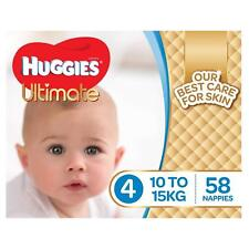 Huggies Ultimate Nappies, Boys,Size 4 Toddler (10-15kg),58 Count Baby Disposable