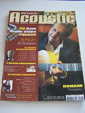 MAGAZINE GUITARIST ACCOUSTIC N° 7 SANS CD ROM . ROMANE . MOUSTAKI ETC .