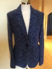 Betty Barclay Jacket Size 12 BNWT Blue Silver Flecked Textured RRP £160 NOW £72
