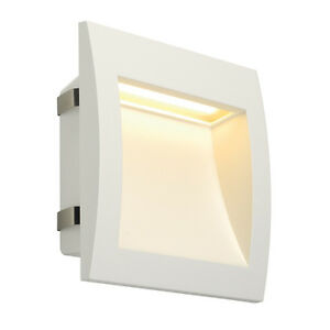 Intalite IP55 Bathroom Exterior DOWNUNDER OUT LED L recessed wall light, white