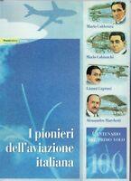 ITALIA -FOLDER 2003 PIONIERI DELL'AVIAZIONE ITALIANA FACCIALE € 30,00 sconto 30%