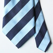 EXQUISITE Atelier F&B Blue Navy Stripe Tie 100% Silk Made in France
