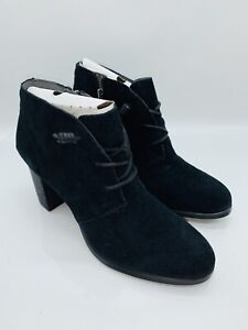 SPERRY Women's Dasher Gale Ankle Boots Black Suede US 12M EUR 43.5