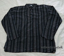 K795 XXL homemade grandad long sleeve multi striped Cotton Men fashion Shirt