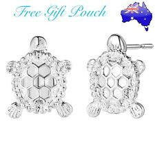 925 Sterling Silver Turtle Tortoise Stud Pierced Earrings Womens Jewellery Gift