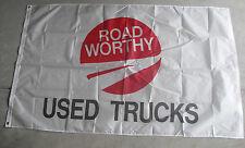 Cool 3x5 Foot Advertising Banner or Flag Road Worthy Used Trucks Nip
