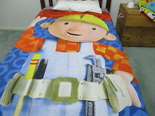 BOB THE BUILDER Single BED Doona Cover   - Fabric & Material Back a Quilt