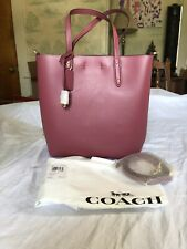 "🌸NEW🌸 Coach Leather Tote Crossbody Shoulder Bag 9.5""x9.5""x3"" Dusty Pink"