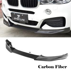 For BMW X6 F16 M Sport 4D15-18 Front Bumper Lip Spoiler Carbon Fiber