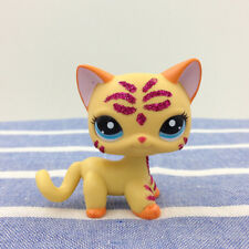 LPS Littlest Pet Shop Animals 2118 Orange Shorthair Cat Sparkle Glitter Figures