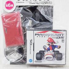 Nintendo DS + Mario Cart Miniature Figure Card Case Twin Strap JAPAN