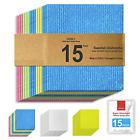 15-Pack, Swedish dishcloths for Kitchen, Cellulose Sponge Cloths, Reusable Dish