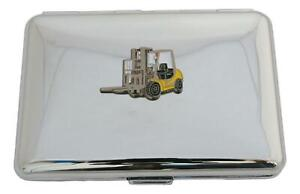 Forklift Cigarette Case With FREE ENGRAVING Smokers Gift 560