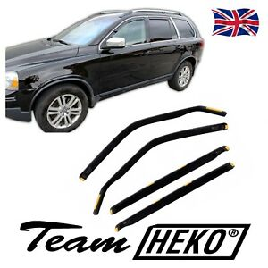 Volvo XC90 2003-2014 SUN SHADE + WIND DEFLECTORS 4pcs set HEKO TINTED