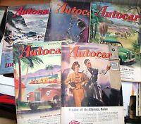 rivista inglese automobilismo THE AUTOCAR 1949 numeri vari  vedi lista