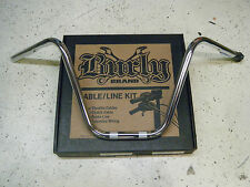 "Burly Chrome 12"" Narrow Ape Hangers & Cable/Line Kit 04-06 Harley Sportster XL"