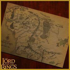 ★ MAPPA il SIGNORE DEGLI ANELLI TERRA DI MEZZO Lord Rings Middle Earth Poster