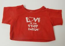 Build A Bear ~ Red T Shirt 'Love is the Stuff Inside'