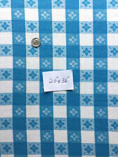 """Vintage Feed Sack Blue & White Check Kitchen Towel/Quilting Fabric 20""""x26"""""""