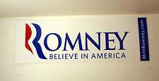 MITT ROMNEY FOR PRESIDENT 2012 OFFICIAL CAMPAIGN BUMPER STICKER AMERICA WHITE