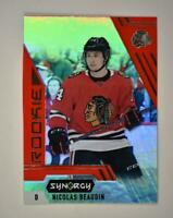 2020-21 UD Synergy Red Rookie #117 Nicolas Beaudin RC - Chicago Blackhawks