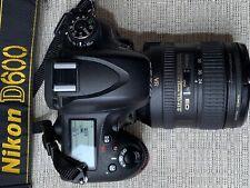 Nikon D D600 24.3MP Digital SLR Camera - Black (Kit w/ AF-S ED VR 24-85mm Lens)
