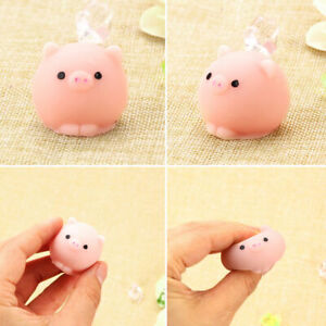 Mini squeeze toy squishy Mochi Soft Release Stress Toys Kawaii Animal Pig.